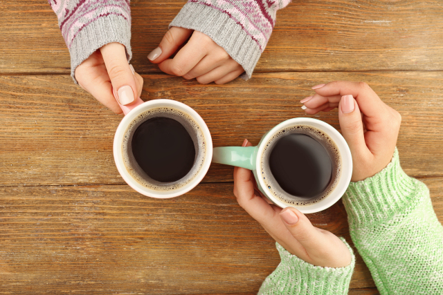 Friendship over coffee